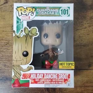 Funko Pop Holiday Dancing Groot metallic Hot Topic